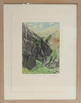 Lot 1040 - Piers Browne, let thy feet repair to Gordale Charm .. Wordsworth signed, inscribed and dated...
