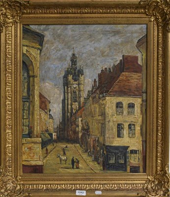 Lot 1042 - S Conti (Contemporary) Townscape, signed oil on canvas, 60cm by 50cm
