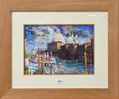 Lot 1050 - Robert Dutton (contemporary) Venetian view, signed pastel, 25cm by 36cm