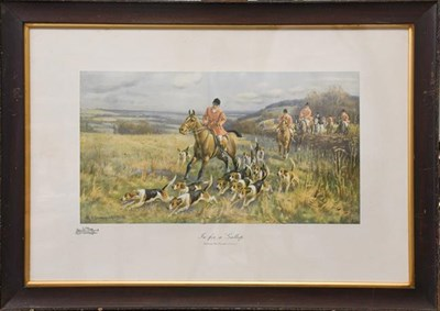 Lot 1052 - Set of Sanderson Wills sporting prints, entitled Gone to Ground, In Full Cry, In for a Gallop...