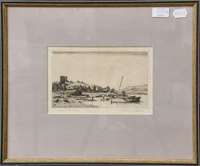 Lot 1055 - Wilfred Crawford Appleby, three signed and numbered etchings, landscapes, together with another...