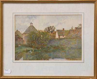 Lot 1057 - Thomas Noel Smith (1840-1900) Country cottage with figures, signed, watercolour, together with...