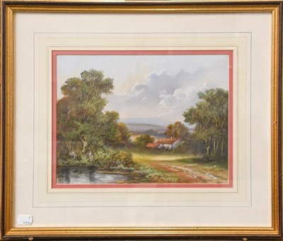 Lot 1058 - Wendy Reeves (b.1944) Lakeland landscape, signed pastels, a pair (2)