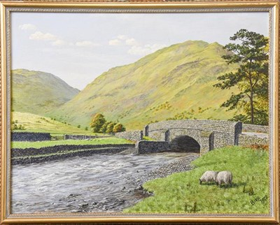 Lot 1062 - Charles A Bool (19th/20th century) North Wales view, signed 39cm by 27cm, together with William...