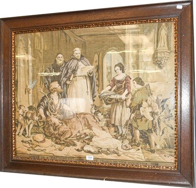 Lot 1068 - A machine made tapestry, interior scene, woven on a Hattersley loom at the Franco-British...