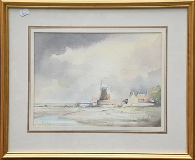 Lot 1080 - David Eddington (20th century) a pair of signed watercolours of boats in a estuary, 25cm by...