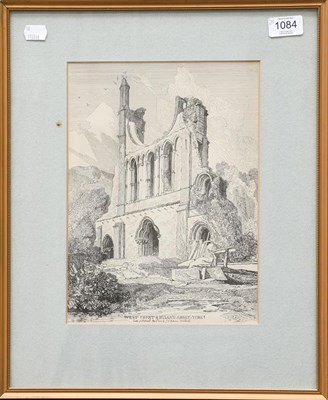 Lot 1084 - English school (19th century), marine study, watercolour, 22cm by 31.5cm, together with a...