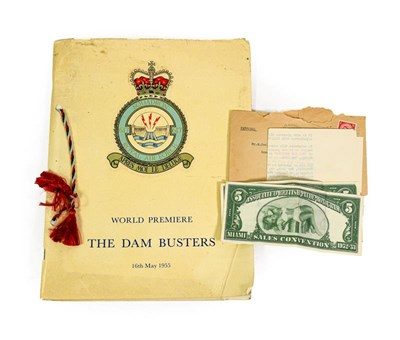 Lot 3002 - Dambusters (Film) World Premier 16th May 1955 Programme with letter form Associated...