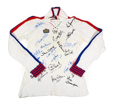 Lot 3003 - England V Northern Ireland 4-0 1979 Signed Shirt signed by Kevin Keegan, Emlyn Hughes, Steve...