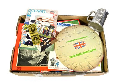 Lot 3004 - Football Related Items including Records: Abbey Road Studios cassette of We've Got The Whole...