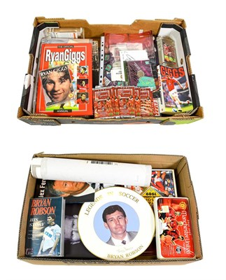 Lot 3007 - Manchester United Related Items including Ryan Giggs: paperweights, various books, publications...