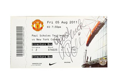Lot 3008 - Pele Autograph on match ticket for Paul Scholes Testimonial vs New York Cosmos Friday 5th...