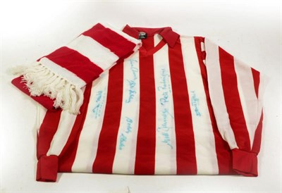 Lot 3011 - Southampton Football Club Signed Shirt signed by Ian Turner, Peter Rodrigues, David Peach, Nick...