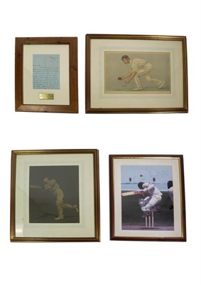 Lot 3016 - Leslie Ames (Kent CCC And England) A Handwritten Letter Dated 18-4-78 Referring To The Sacking...