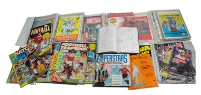 Lot 3017 - Autographed Football Items including David Fairclough, Ray Clemence, Phil Thompson, Kenny...