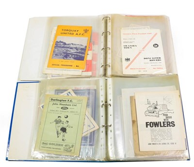 Lot 3018 - Football Programmes An Interesting Collection 1950's And Onwards including Manchester United v...