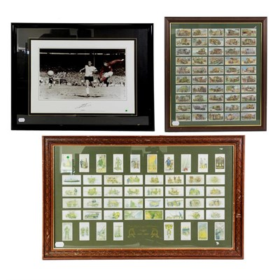 Lot 3020 - Geoff Hurst Signed Photograph showing Hurst scoring the fourth goal in the 1966, together with...