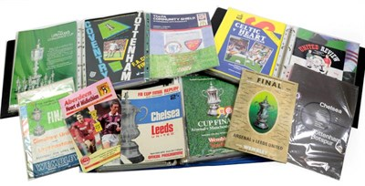 Lot 3028 - Various Football Cup Final Programmes including Chesham Utd v Leytonstone (Amateur Cup 1968),...