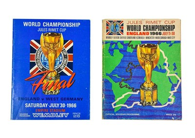 Lot 3031 - World Cup 1966 England v West Germany Programme together with Official Souvenir Programme (2)