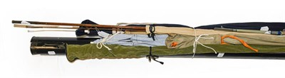 Lot 3036 - A Collection Of Mixed Rods to include a Hardy JET 9' two section fibreglass fly rod #6. A Hardy...