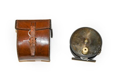 Lot 3038 - A C Farlow 4 1/2'' Three Piece Salmon Fly Reel with ivorine handle and rim tension adjustment...