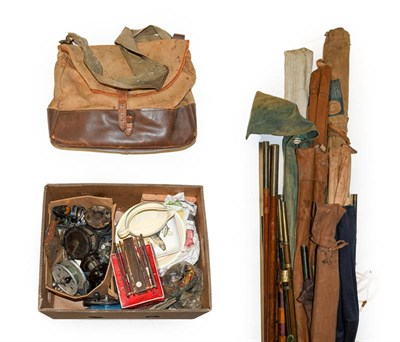 Lot 3041 - A Collection Of Miscellaneous Tackle including fifteen fly, spin, sea and coarse rods mostly...