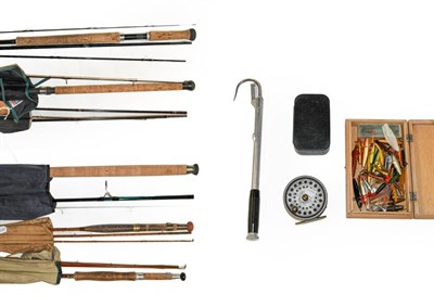 Lot 3047 - A Collection Of Mixed Tackle to include a Daiwa Whisker 11'-3'' 3 section carbon fly rod #6/8....