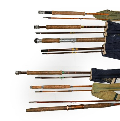 Lot 3049 - A Collection Of Rods And Reels to include a Hardy Perfect 3 5/8'' with alloy foot, agate line guard