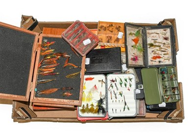 Lot 3052 - A Collection Of Various Fly Boxes And Reservoirs by various makers including Hardy,...