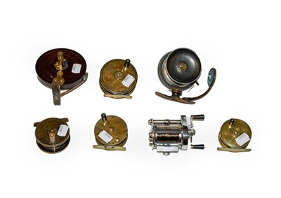 Lot 3058 - A Collection Of Various Reels comprising of a Hardy Elarex casting reel, a Mallochs side caster...