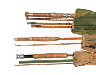 Lot 3060 - A Collection Of Various Rods comprising of a Hardy Coquet 3 section  with additional top...