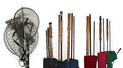 Lot 3061 - A Collection Of Various Rods to include a Hardy Fibalite Perfection 2 section fibreglass rod...
