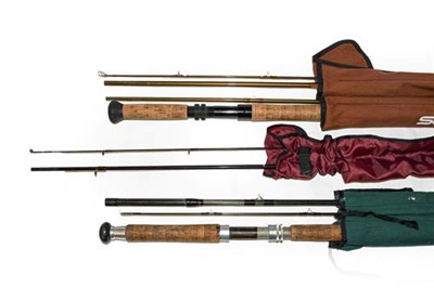 Lot 3063 - A Collection Of Various Rods to include An Orvis Spey graphite salmon fly rod 15' #11, A...