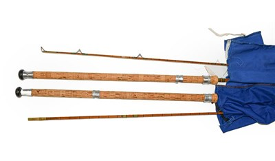 Lot 3066 - A Falcon of Redditch 10' Two Section Split Cane Avon Rod together with a similar Falcon 10' two...