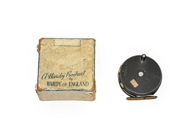 Lot 3073 - A Hardy 3 3/8'' Perfect Trout Fly Reel with RHW, agate line guard, brass foot, ebonite handle...