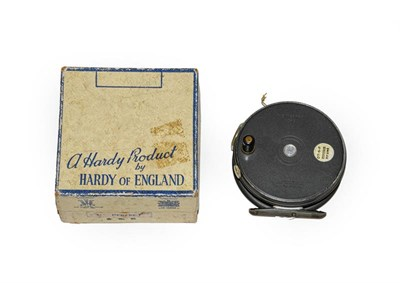 Lot 3074 - A Hardy 3 5/8'' Perfect Trout Fly Reel with RHW, agate line guard, brass foot and ebonite handle