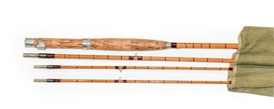Lot 3077 - A Hardy CC De France  9' Three Section Split Cane Trout Fly Rod with additional top section