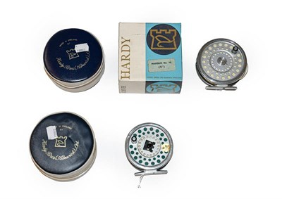 Lot 3083 - A Hardy Marquis #10 Fly Reel together with a Hardy Marquis #7 Trout fly reel. (2)