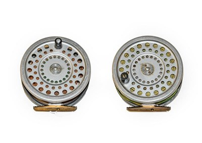 Lot 3085 - A Hardy Marquis Salmon No2 Fly Reel along with another similar Hardy Marquis Salmon No2 reel. (2)