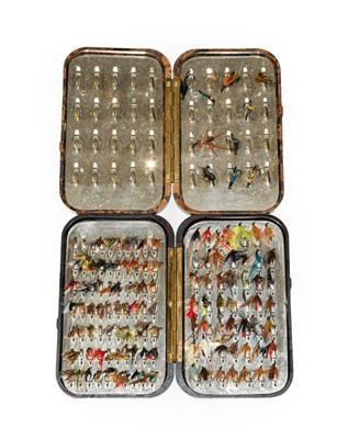Lot 3087 - A Hardy Neroda Bakelite Fly Box fitted internally with spring clips and another similar Hardy...