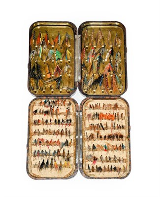 Lot 3088 - A Hardy Neroda Bakelite Salmon Fly Box fitted internally with spring clips and another similar...