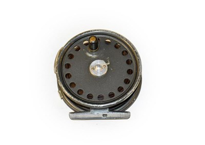 Lot 3094 - A Hardy St George 3 3/8'' Fly Reel with agate line guard and 2 screw latch.