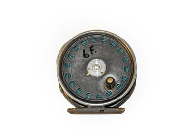 Lot 3095 - A Hardy St George 3 3/8'' Fly Reel with agate line guard and 3 screw latch