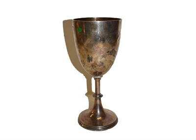 Lot 13 - An Edward VII silver goblet, by Mappin and Webb, Sheffield, 1902, the bowl tapering and...