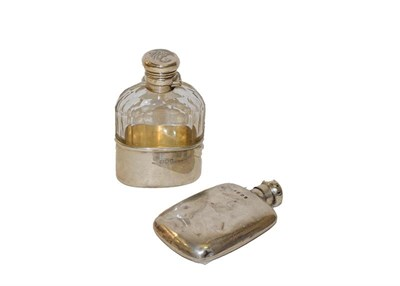 Lot 16 - A Victorian silver mounted glass spirit flask, by Charles James Fox, London, 1897, the glass...