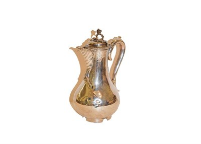 Lot 31 - A George III silver hot water jug, by John Parker and Edward Wakelin,  London, 1761, the handle and