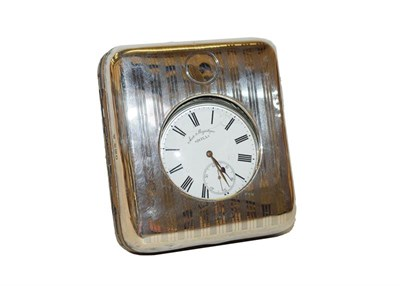 Lot 39 - A George V silver pocket watch case, by Charles & Richard Comyns, London, 1916, oblong, the...