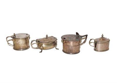 Lot 56 - A George IV silver drum-shaped mustard pot, by Thomas Ross, London. 1828, the lower body...