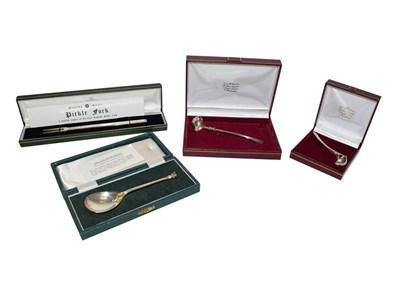 Lot 60 - Four Iitems of Elizabeth II silver flatware including a copy of a 17th century silver fork...