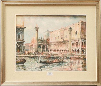 Lot 1002 - Dileo (Contemporary), A view of Venice, St. Marks Square, signed, oil on canvas, 38.5cm by 48.5cm